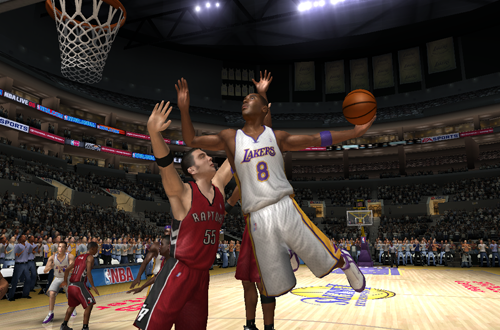 Kobe Bryant dunks in NBA Live 06