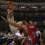 Kobe Bryant shoots in NBA Live 06