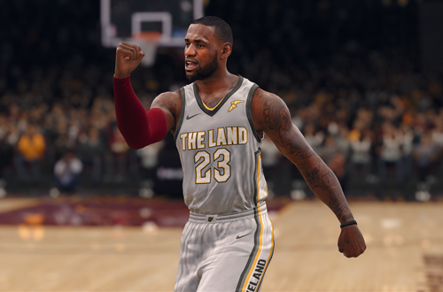 LeBron James wearing The Land Jersey (NBA Live 18)