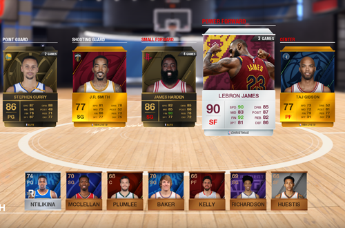 Ultimate Team Lineup (NBA Live 18)