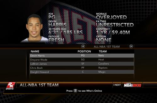 NBA 2K10 Sim: 2013 All-NBA First Team