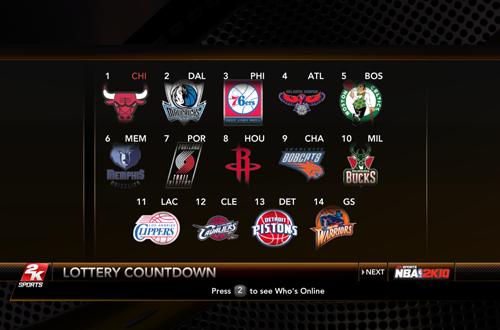 NBA 2K10 Sim: 2013 Draft Lottery