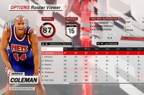 Derrick Coleman Portrait (NBA 2K18)