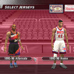 1996 Mod for NBA Live 2004: Jersey Selection