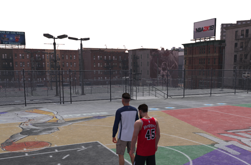 Empty Playground in NBA 2K18