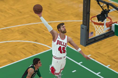 Dunking in MyCAREER (NBA 2K18)