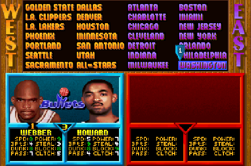 Bullets Ratings in NBA Jam Tournament Edition