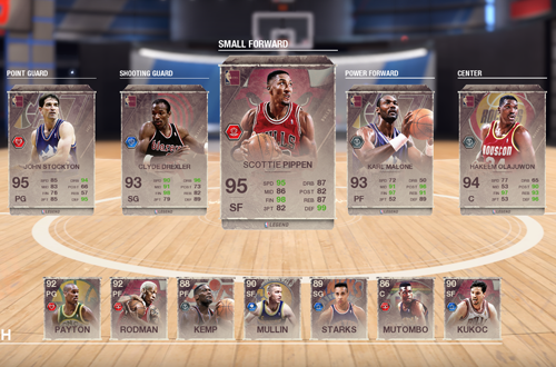 Ultimate Team: 90s All-Stars Lineup (NBA Live 18)