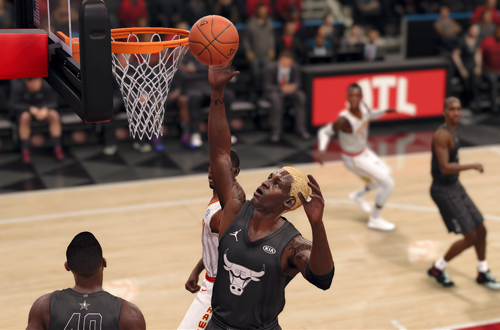 Dennis Rodman rebounds in Ultimate Team (NBA Live 18)