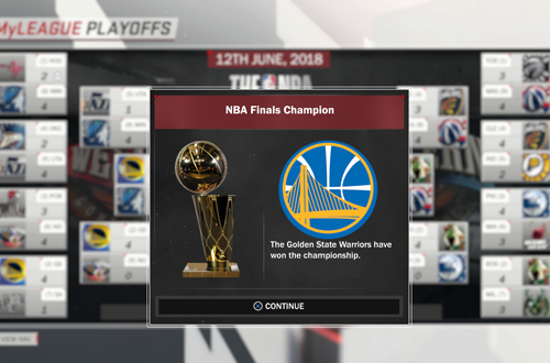 2018 NBA Playoffs Sim in NBA 2K18