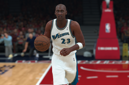 Michael Jordan on the All-Time Wizards (NBA 2K18)