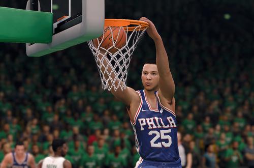Comeback Kid Ben Simmons Dunks in NBA Live 18