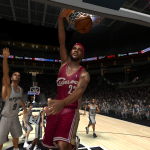 LeBron James in NBA Live 08