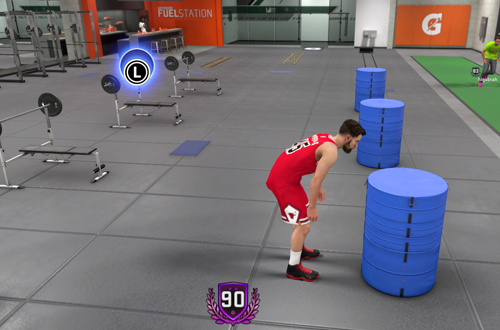 Gatorade Gym in The Neighborhood (NBA 2K18)