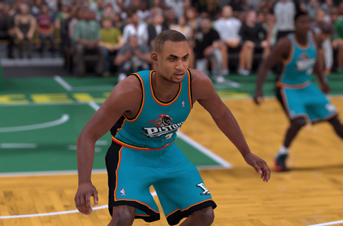 Ideas for Retro Teams: 1997 Pistons (Grant Hill, NBA 2K18)
