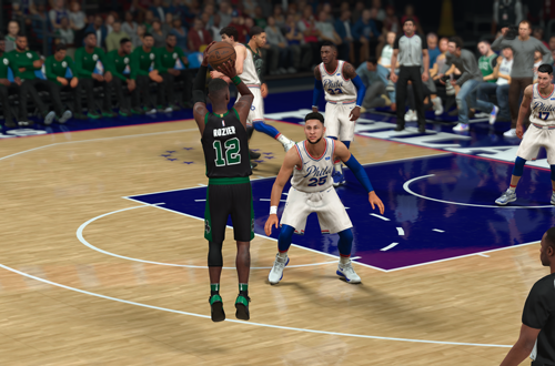Terry Rozier with the jumpshot in NBA 2K18