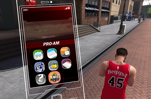 Smartphone in MyCAREER (NBA 2K18)