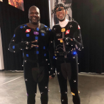 NBA 2K Mo-Cap Photo featuring Shaq & Kareem