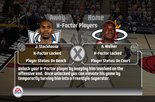 X-Factor Menu in NBA Live 07