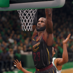 LeBron James dunks the basketball (NBA Live 18)
