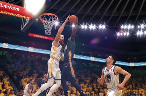 JaVale McGee with the block (NBA Live 18)
