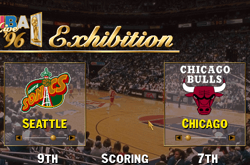 Selecting Teams for Exhibition Play (NBA Live 96)
