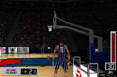 Emanual Davis in the Three-Point Shootout (NBA Live 98)