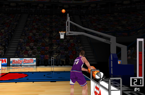 Jeff Hornacek in the Three-Point Shootout (NBA Live 98)