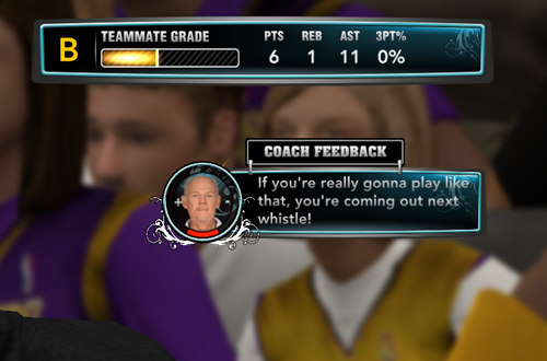 Rude Coach Feedback in MyCAREER (NBA 2K13)