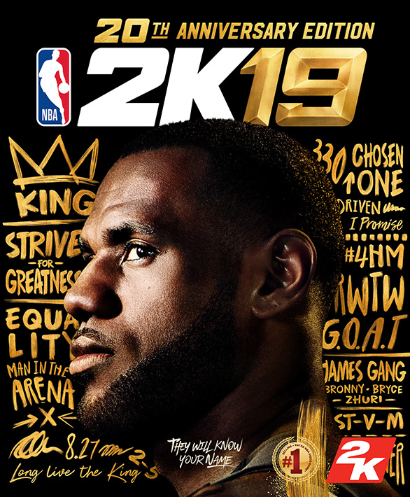 NBA 2K19 20th Anniversary Cover
