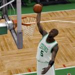 Kevin Garnett Dunking in NBA 2K9