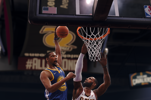 Kevin Durant dunks on LeBron James (NBA Live 18)