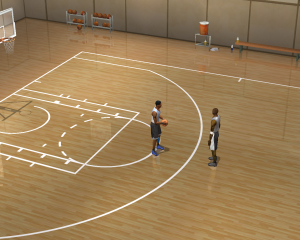 NBA Live 2003 1-on-1 Courts: Practice Gym