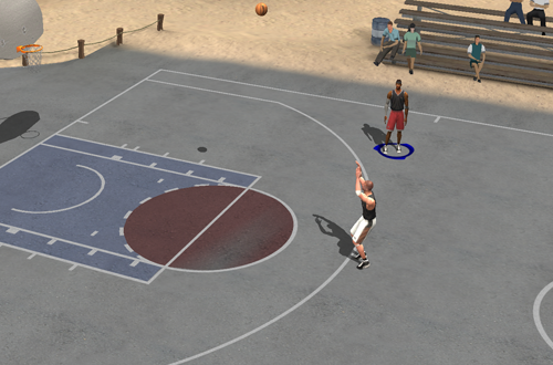 AI vs Kidd on the Beach Court (NBA Live 2003)