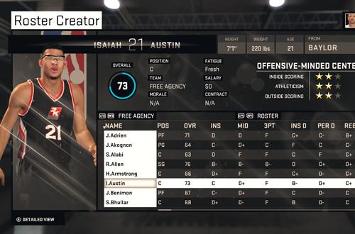 Isaiah Austin in NBA 2K15