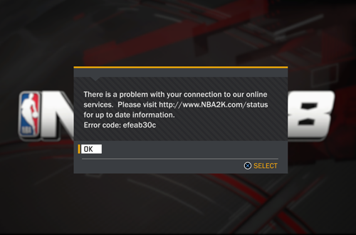 Connection Errors Are Not Fun (NBA 2K18)