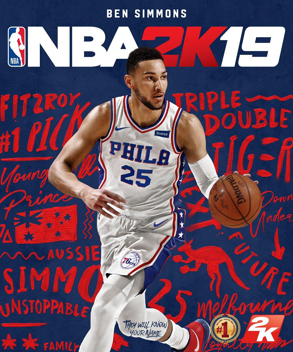 Nba 2k 20 Wallpaper: Ben Simmons Appearing On Australian NBA 2K19 Cover