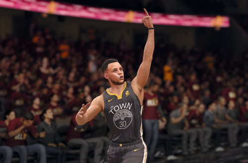 Stephen Curry Celebrates in NBA Live 18
