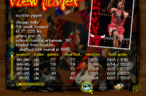 Cool Facts about Scottie Pippen (NBA Live 97)