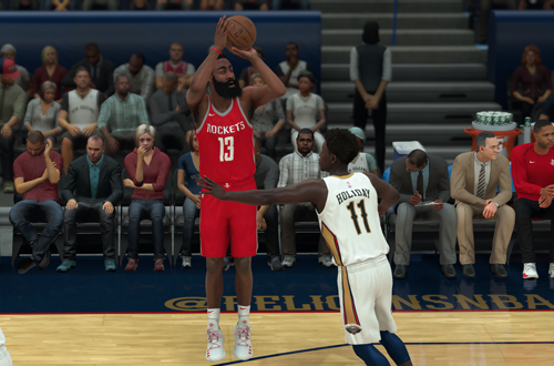 Improvements to shot distribution make James Harden a real threat (NBA 2K18)