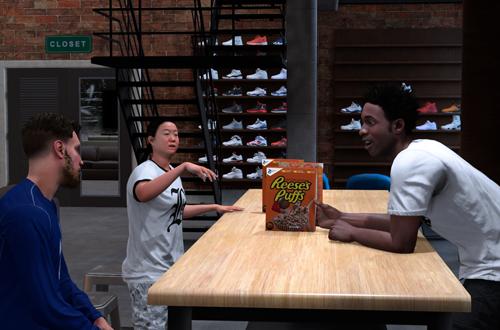 MyCAREER Cutscene with B Fresh and Shammy Wells (NBA 2K18)