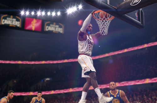 Improvements to rim interactions are evident (NBA Live 18, LeBron James)