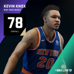 NBA Live 19: Kevin Knox (78 Overall)