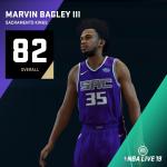NBA Live 19: Marvin Bagley III (82 Overall)