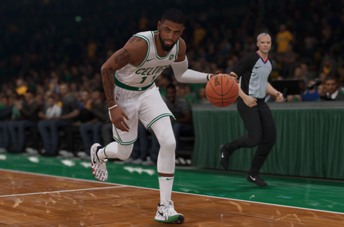 Kyrie Irving in the NBA Live 19 demo