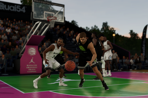 Quai 54 game in the NBA Live 19 demo