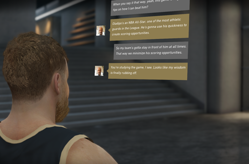Text Messages in The One (NBA Live 19 Demo)