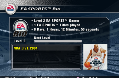The EA Sports Bio in NBA Live 2004