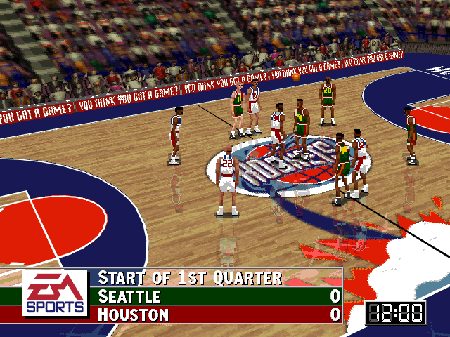 SuperSonics vs. Rockets in NBA Live 96