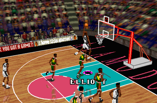 Classic Isometric Cam in NBA Live 96 (Spurs vs SuperSonics)